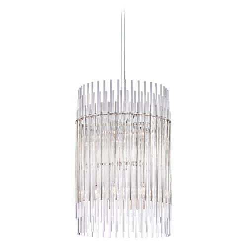 Hudson Valley Lighting Hudson Valley Lighting Wallis Polished Nickel Pendant Light with Cylindrical Shade 6320-PN