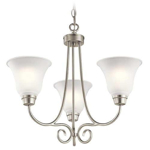 Kichler Lighting Kichler Lighting Bixler Brushed Nickel Chandelier 43937NI