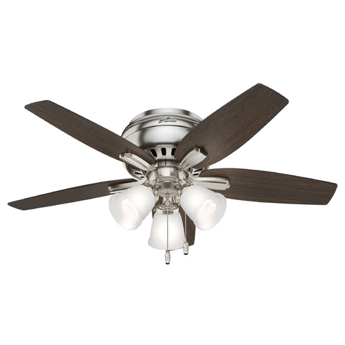 Hunter Fan Company Hunter 42-Inch Brushed Nickel Ceiling Fan with Light 51079