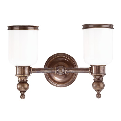 Hudson Valley Lighting Bathroom Light with White Glass in Polished Nickel Finish 6302-PN