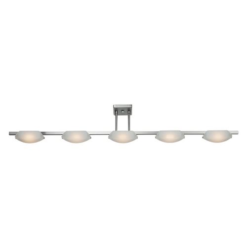 Access Lighting Access Lighting Nido Matte Chrome Island Light with Oval Shade 63959-MC/FST