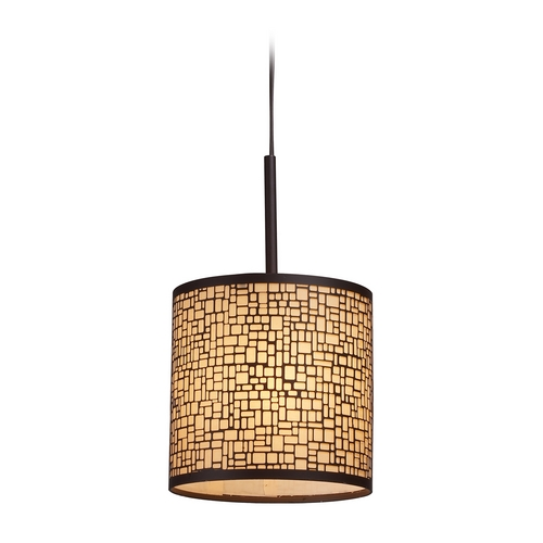 Elk Lighting Modern Mini-Pendant Light with Amber Glass 31045/1