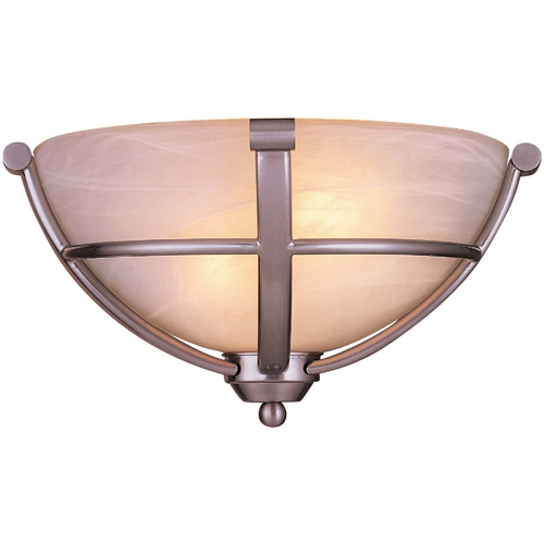 Minka Lavery Energy Star Single-Light Sconce - Etched Marble Glass 1420-84-PL