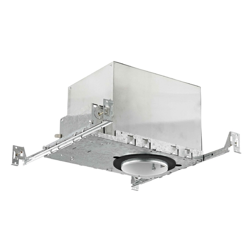 Recesso Lighting by Dolan Designs 4-Inch New Construction GU10 Recessed Can Light IC & Airtight Flat Ceiling IC400-GU