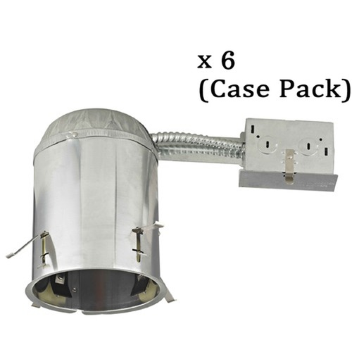 Recesso Lighting by Dolan Designs 5-Inch Recessed Non-IC Can Lights- Case Pack of 6 IC5R-CASE