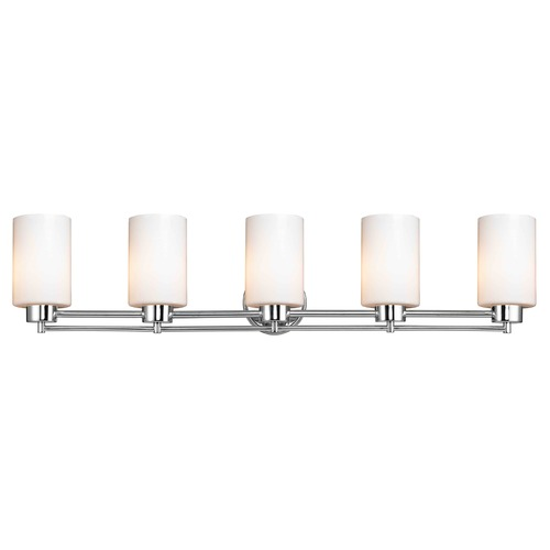 Design Classics Lighting Chrome Bathroom Light 706-26 GL1024C