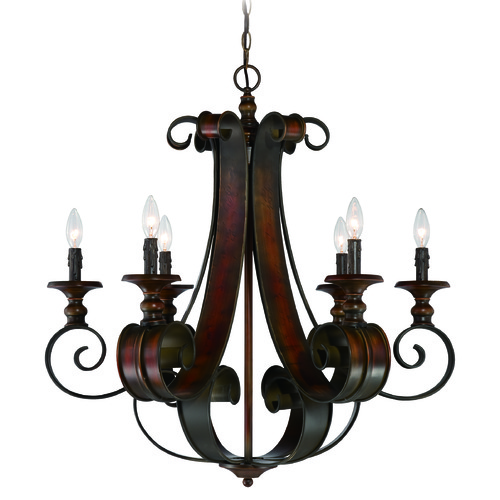 Jeremiah Lighting Jeremiah Seville Spanish Bronze Chandelier 28026-SPZ