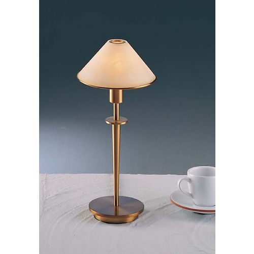 Holtkoetter Lighting Holtkoetter Modern Table Lamp with Alabaster Glass in Antique Brass Finish 6506 AB ALC