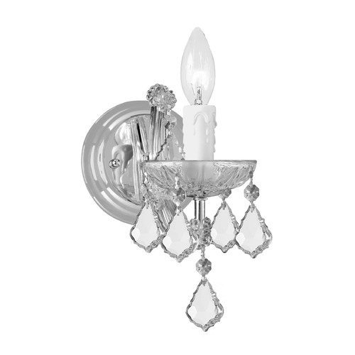 Crystorama Lighting Crystorama Lighting Maria Theresa Polished Chrome Sconce 4471-CH-CL-SAQ