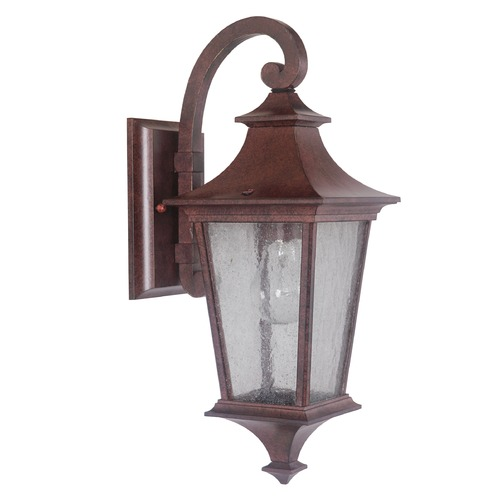 Craftmade Lighting Seeded Glass Outdoor Wall Light Bronze Craftmade Lighting Z1354-98