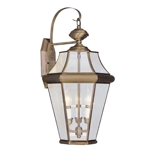 Livex Lighting Livex Lighting Georgetown Antique Brass Outdoor Wall Light 2361-01