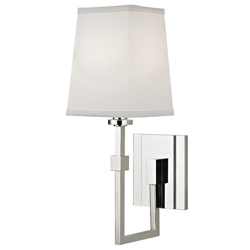 Hudson Valley Lighting Fletcher 1 Light Sconce Square Shade - Polished Nickel 1361-PN