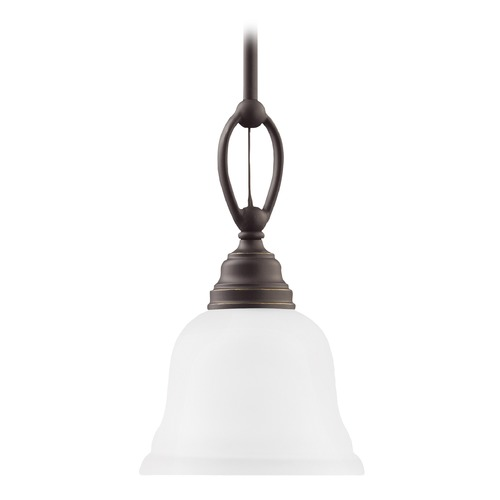Sea Gull Lighting Sea Gull Lighting Wheaton Heirloom Bronze LED Pendant Light with Bell Shade 61625EN3-782