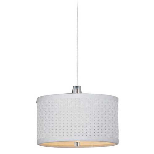 ET2 Lighting Modern Low Voltage Mini-Pendant Light with White Shade E95490-100SN