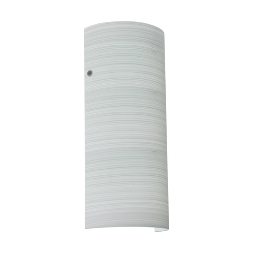 Besa Lighting Sconce Wall Light Grey Glass Satin Nickel by Besa Lighting 8192KR-SN