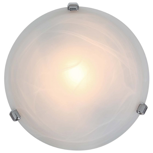 Access Lighting Modern Flushmount Light with Alabaster Glass in Chrome Finish 50046-CH/ALB