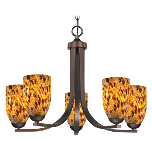 Design Classics Lighting Design Classics Dalton Fuse Neuvelle Bronze Chandelier 584-220 GL1005D