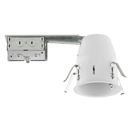 Recesso Lighting by Dolan Designs 4-Inch Remodel GU10 Recessed Can Light Non-IC Flat Ceiling TC400R-GU