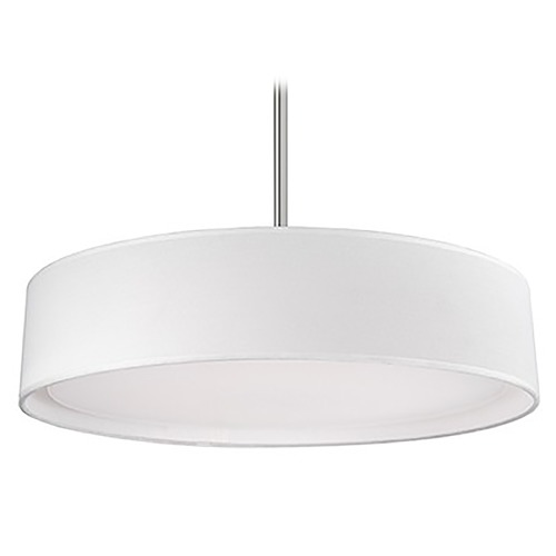 Kuzco Lighting Modern Brushed Nickel LED Pendant with White Shade 3000K 1458LM PD7920-WH