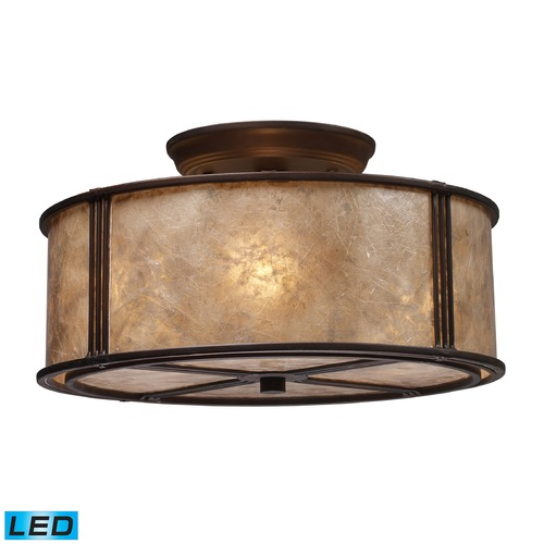 Elk Lighting Elk Lighting Barringer Aged Bronze LED Semi-Flushmount Light 15031/3-LED