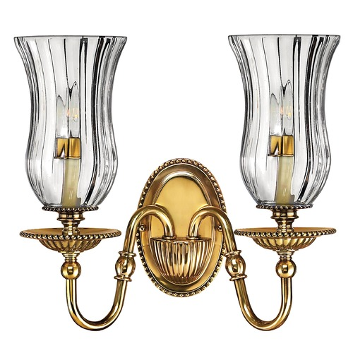 Hinkley Lighting Sconce Wall Light with Clear Glass in Burnished Brass Finish 4642BB