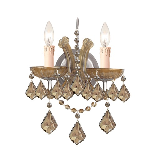 Crystorama Lighting Crystorama Lighting Maria Theresa Antique Brass Sconce 4472-AB-GT-MWP