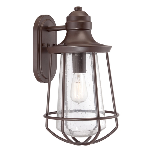 Quoizel Lighting Seeded Glass Outdoor Wall Light Bronze Quoizel Lighting MRE8409WT
