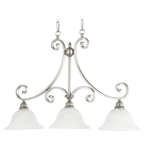 Quorum Lighting Quorum Lighting Bryant Classic Nickel Island Light 6554-3-64
