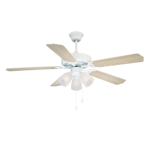 Savoy House Savoy House White Ceiling Fan with Light 52-EUP-5RV-WH