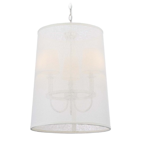Crystorama Lighting Crystorama Lighting Culver Polished Nickel Pendant Light with Empire Shade 2293-PN