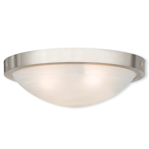 Livex Lighting Livex Lighting New Brighton Brushed Nickel Flushmount Light 73953-91
