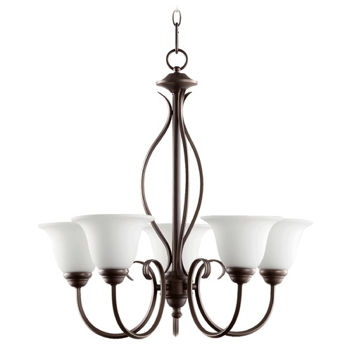 Quorum Lighting Quorum Lighting Spencer Oiled Bronze Chandelier 6010-5-186