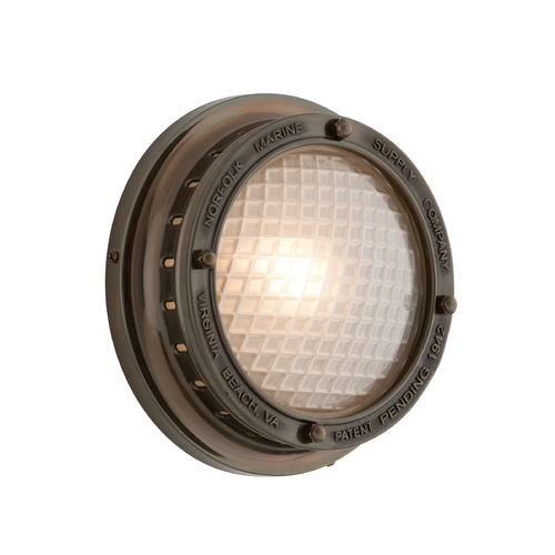Troy Lighting Outdoor Wall Light with Clear Glass in Centennial Rust Finish B3261