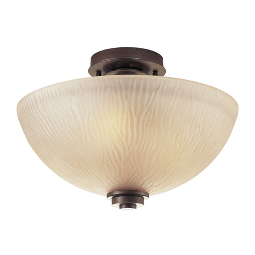 Progress Lighting Progress Flushmount Light with Beige / Cream Glass in Heirloom Finish P3525-88