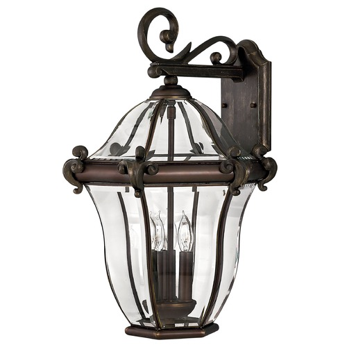 Hinkley Lighting Outdoor Wall Light with Clear Glass in Copper Bronze Finish 2445CB