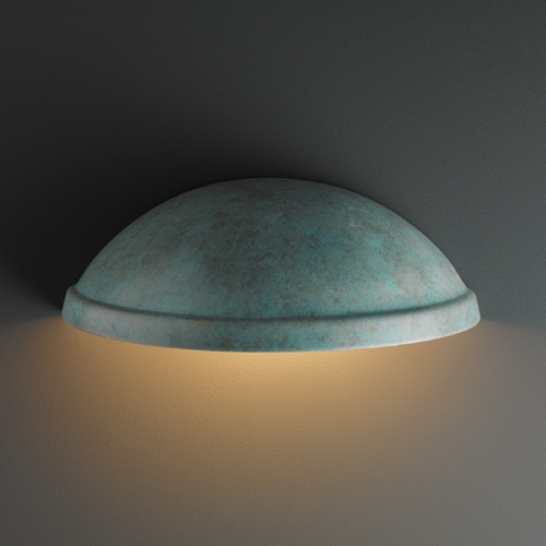 Justice Design Group Outdoor Wall Light in Verde Patina Finish CER-2050W-PATV