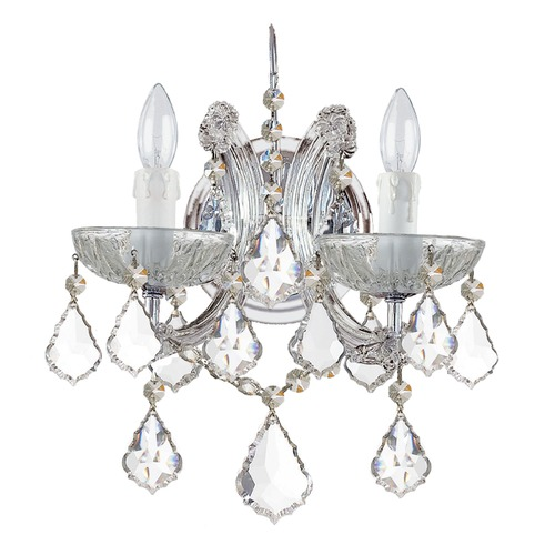 Crystorama Lighting Crystorama Lighting Maria Theresa Polished Chrome Sconce 4472-CH-CL-MWP