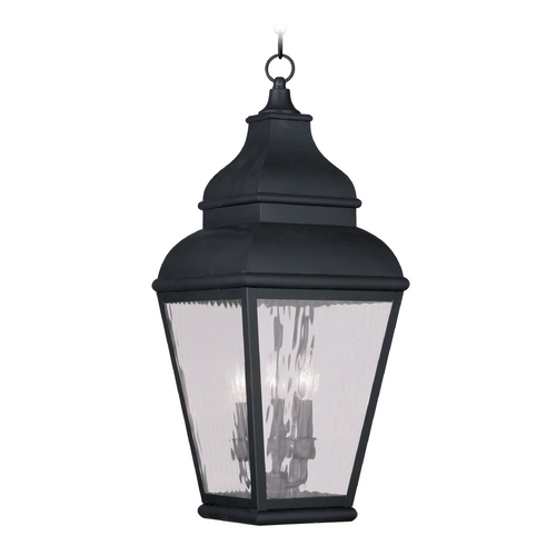 Livex Lighting Livex Lighting Exeter Vintage Pewter Outdoor Hanging Light 2610-04