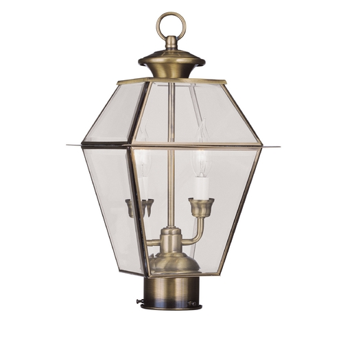 Livex Lighting Livex Lighting Westover Antique Brass Post Light 2284-01