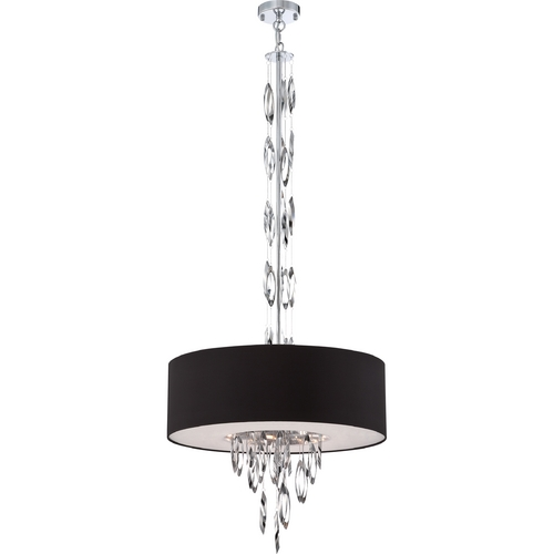 Quoizel Lighting Quoizel Cascade Polished Chrome Pendant Light with Drum Shade PCCS2824C