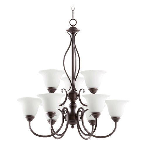 Quorum Lighting Quorum Lighting Spencer Oiled Bronze Chandelier 6010-9-186