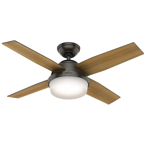 Hunter Fan Company Hunter 44-Inch Noble Bronze LED Ceiling Fan with Light with Hand-Held Remote 59444