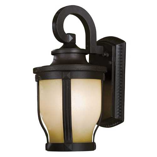 Minka Lavery Outdoor Wall Light with White Glass in Corona Bronze Finish 8761-166-PL