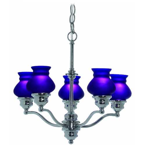 Lite Source Lighting Lite Source Lighting Susie Chrome Chandelier LS-19271C/BLU