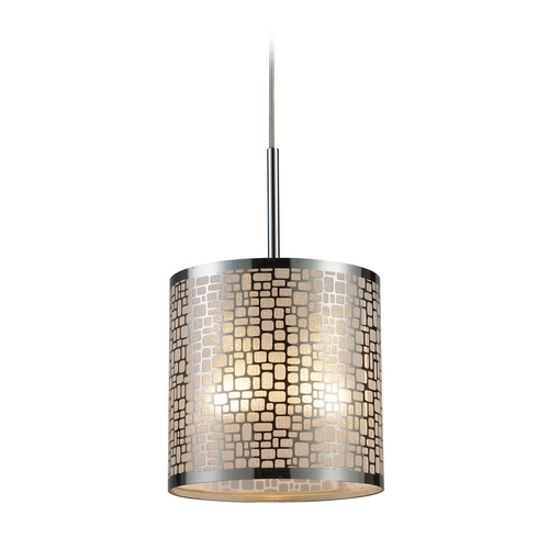 Elk Lighting Modern Mini-Pendant Light with White Glass 31041/1