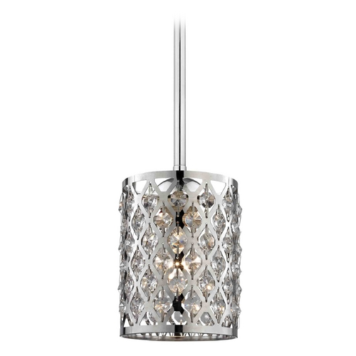 Design Classics Lighting Crystal Mini-Pendant Light 581-26 GL1046-26