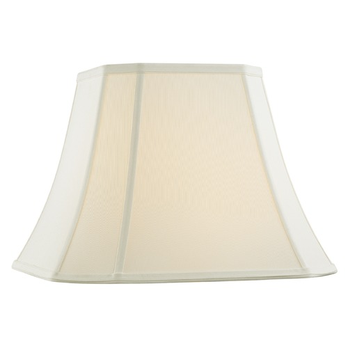 Design Classics Lighting Off White Cut Corner Fabric Lamp Shade with Piping and Spider Assembly SH9729