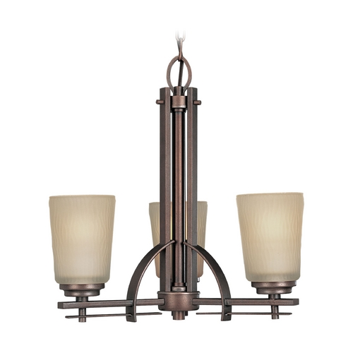 Progress Lighting Progress Chandelier with Beige / Cream Glass in Heirloom Finish P4212-88