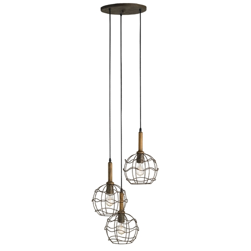Currey and Company Lighting Currey and Company Lighting Shirley Rust / Chestnut Multi-Light Pendant 9968