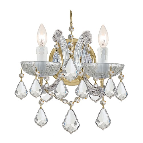 Crystorama Lighting Crystorama Lighting Maria Theresa Gold Sconce 4472-GD-CL-S